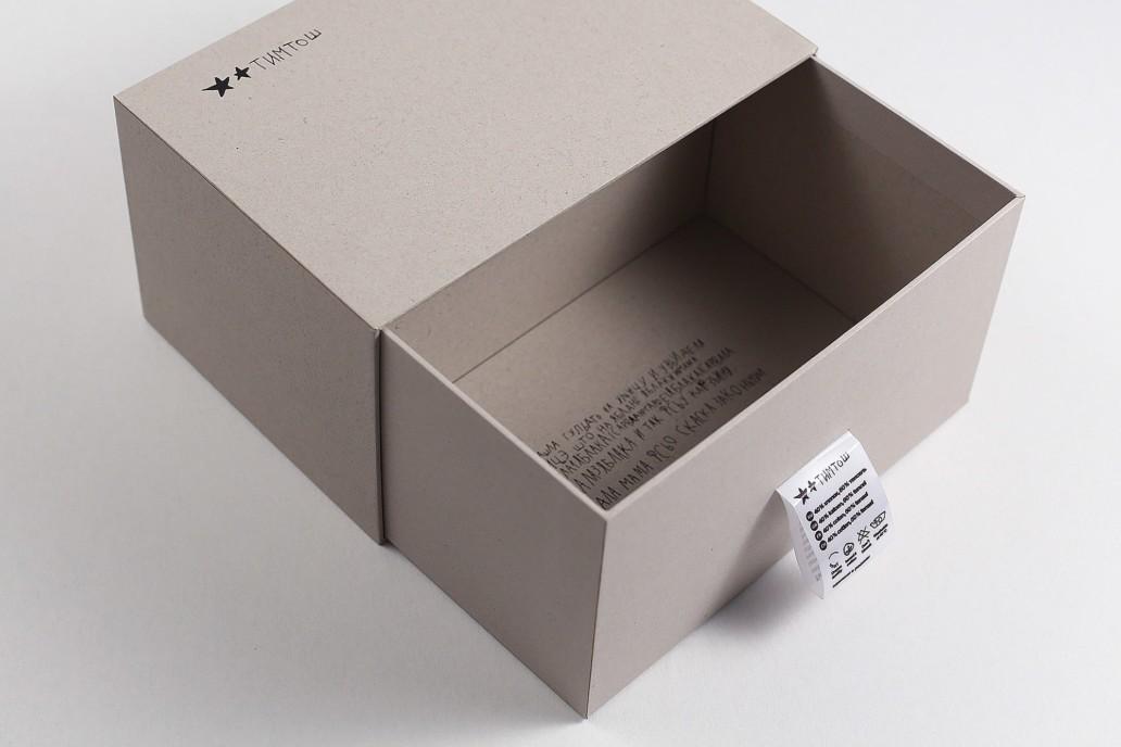 Коробка пенал с логотипом на заказ длч Тим Тош