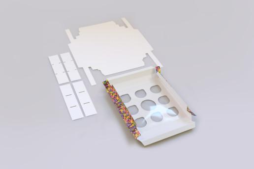 Самосборные коробки на зака для Эмоджи