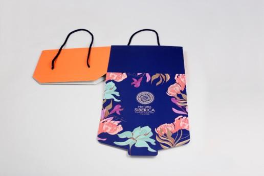 Самосборные коробки из картона, заказ NATURA SIBERICA & ORGANIC SHOP