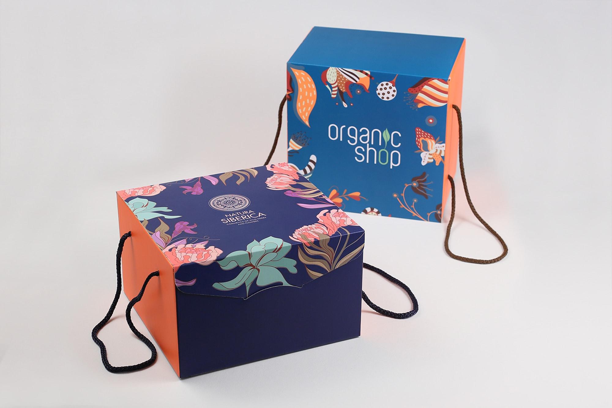 Самосборные коробки с логотипом на заказ. Любые варианты.