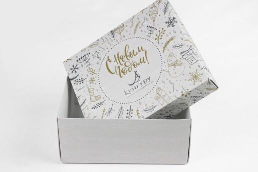 Самосборные подарочные коробки купить на заказ